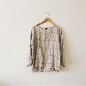 Eileen Fisher | Linen Grid Blouse